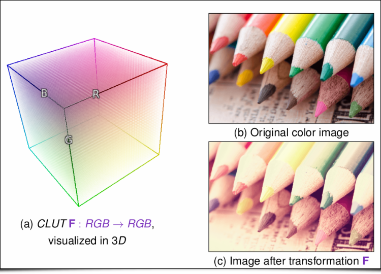 Illustration of a 3D Color LUT
