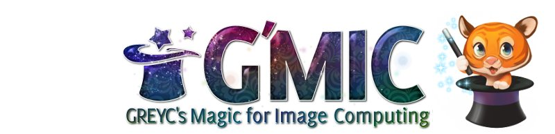 G'MIC - GREYC's Magic for Image Computing: A Full-Featured Open